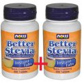 Better Stevia 400 (200+200) instant tabs - Now Foods