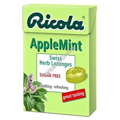 Sugar Free Apple Mint Lozenges 50g - Ricola