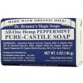 Peppermint Organic Bar Soap 140g (5 US OZ) - Dr. Bronner