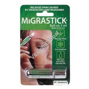 Migrastick for the relief of headache & migraine 3 ml - Arkopharma
