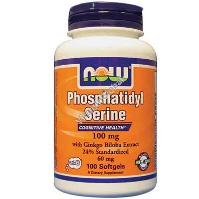 Phosphatidyl Serine 100mg 100 Softgels - NOW Foods