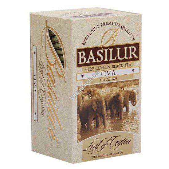 Pure Ceylon Black Tea UVA 20 tea bags - Basilur