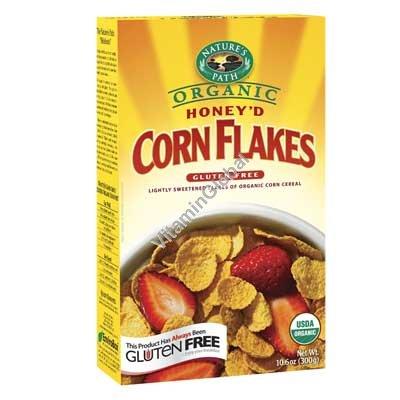 Honey\'d Organic Corn Flakes Cereal 300g (10.6 oz) - Nature\'s Path