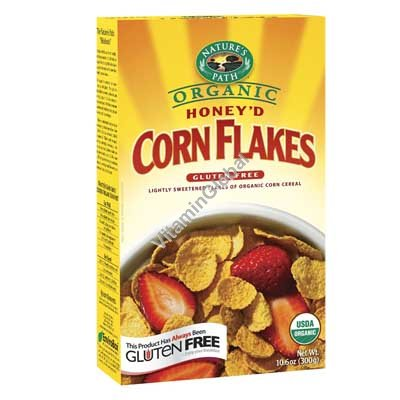 Honey\'d Organic Corn Flakes Cereal 300g (10.6 oz) - Nature\'s Path