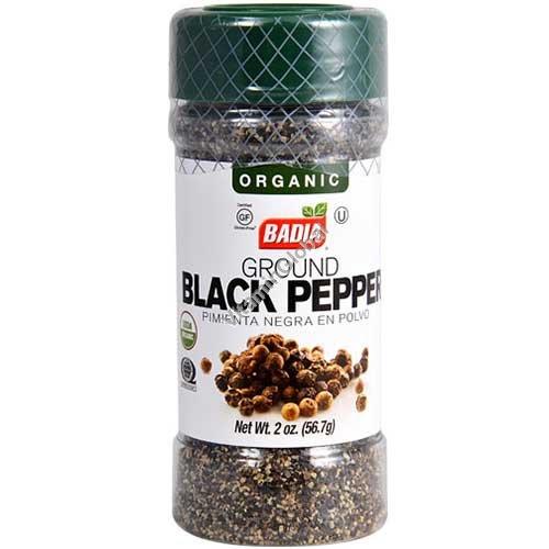 Organic Gluten Free Ground Black Pepper 56.7g (2 oz.) - Badia