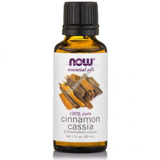 Cinnamon Cassia Oil 30ml (1 fl oz) - Now Essential Oils