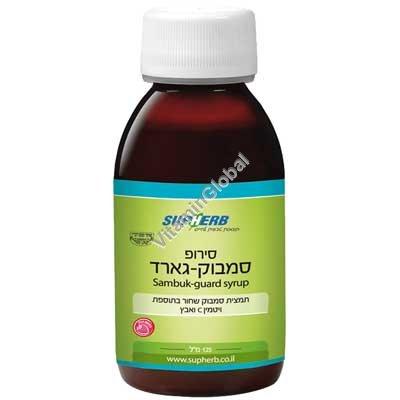 Sambuk Guard Syrup - Standardized Black Elderberry Extract, Zinc and Vitamin C 125 ml - SupHerb