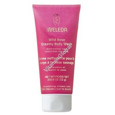 Wild Rose Creamy Body Wash 200ml (7.2 OZ) - Weleda