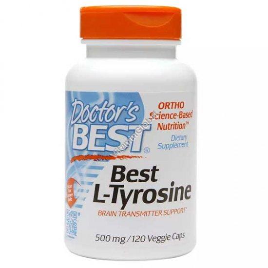Best L-Tyrosine 500 mg 120 Veggie Caps - Doctor\'s Best