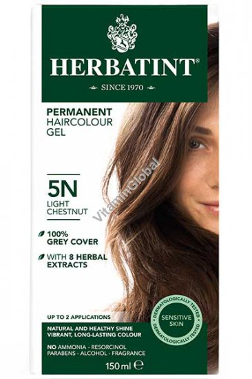 Permanent Haircolor Light Chestnut 5N - Herbatint