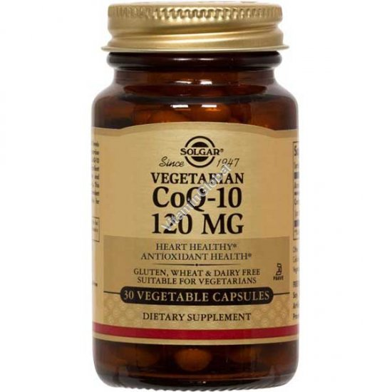 Coenzyme CoQ-10 120 mg 30 Vegetable Capsules - Solgar