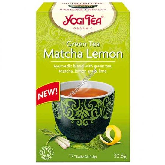 Organic Green Tea Matcha Lemon 17 teabags - Yogi Tea
