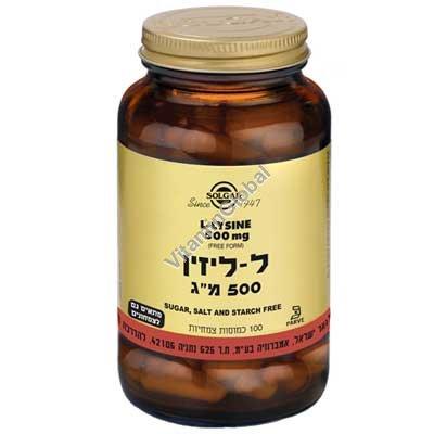 L-Lysine 500 mg 100 caps - Solgar