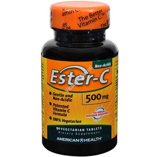 Ester-C with Citrus Bioflavonoids 500 mg 90 vegetarian tablets - American Health