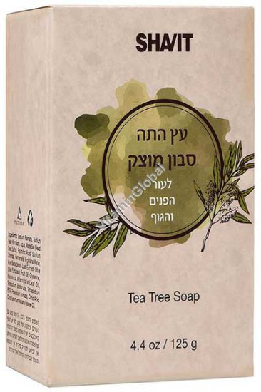 Tea Tree Soap Bar 125g 4.4 OZ) - Shavit