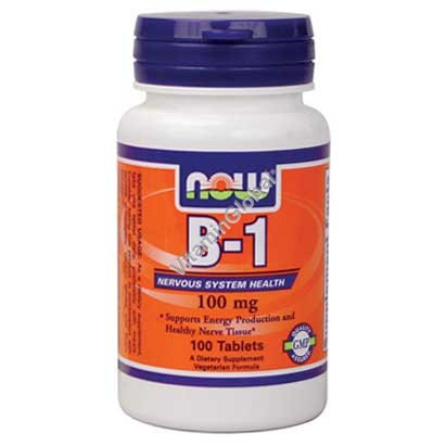 Vitamin B-1 100 mg 100 tabs - NOW Foods