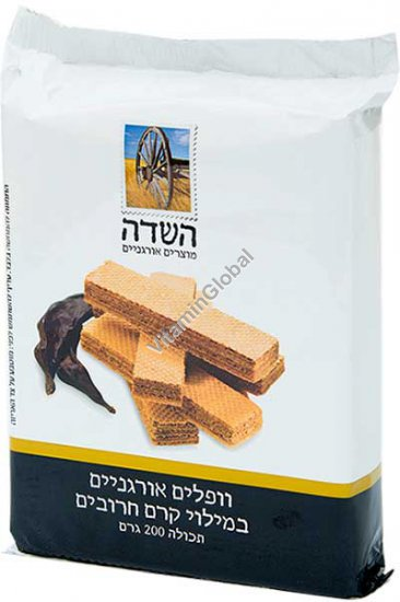 Organic Wafers with Carob Cream Filling 250g - HaSade