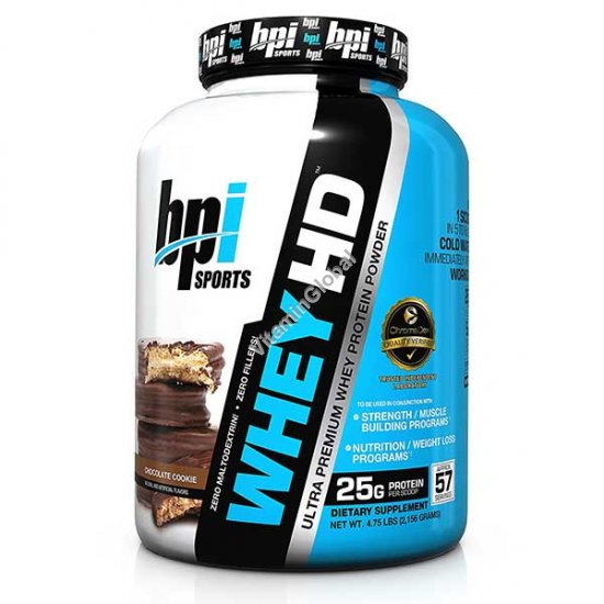 Ultra Premium Whey HD Protein Powder Chocolate Cookies 2.15g - bpi Sports