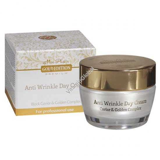 Anti Wrinkle Day Cream Enriched With Black Caviar, Gold Edition (1.7 fl. oz) 50ml - Mon Platin