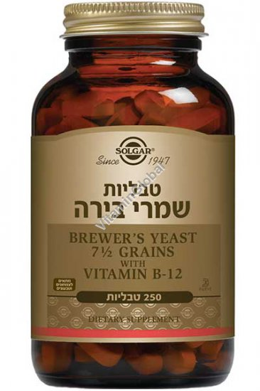 Brewer\'s Yeast with Vitamin B-12 250 tablets - Solgar