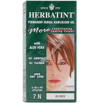 Permanent Herbal Haircolour Gel Blonde 7N - Herbatint