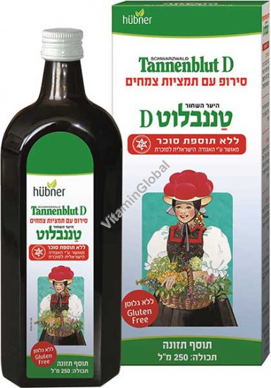 Tannenblut D - Sugar Free Herbal Bronchial Syrup 250ml - Hubner