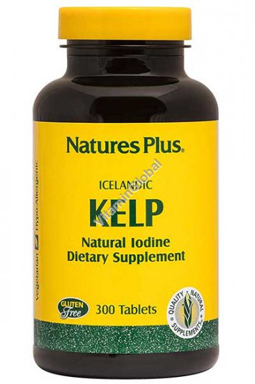Icelandic Kelp 150 mcg 300 tablets - Nature\'s Plus
