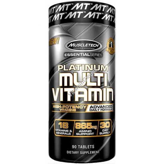 Platinum Multivitamin for active adults 90 tablets - MuscleTech