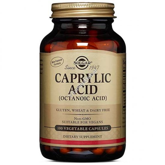 Caprylic Acid 100 Vegetable Capsules - Solgar