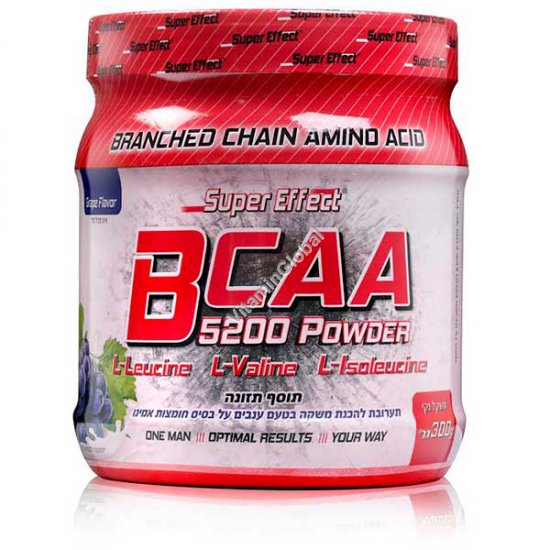 BCAA 5200 Powder Grape Flavor 300g - Super Effect
