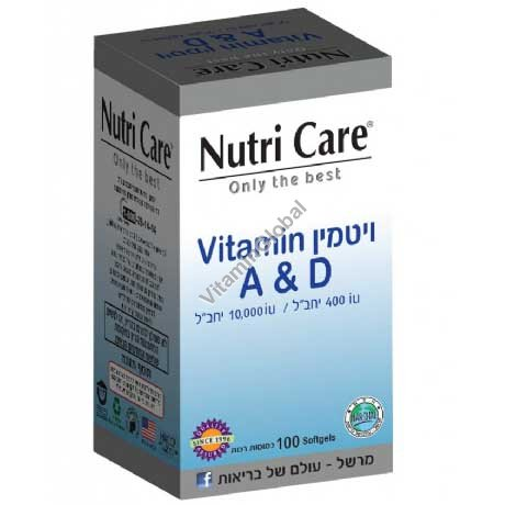Vitamin A & D 100 Softgels - Nutri Care