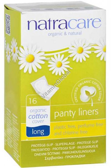 Natural Long Panty Liners 16 Count - Natracare