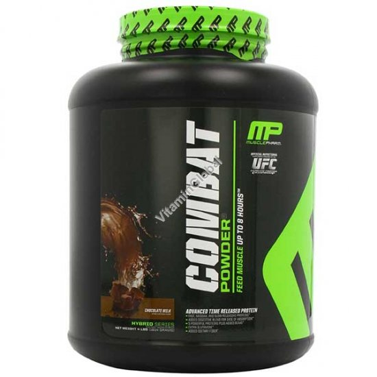 Combat Protein Powder Chocolate Milk 1814 g (4 LBS) - Muscle Pharm