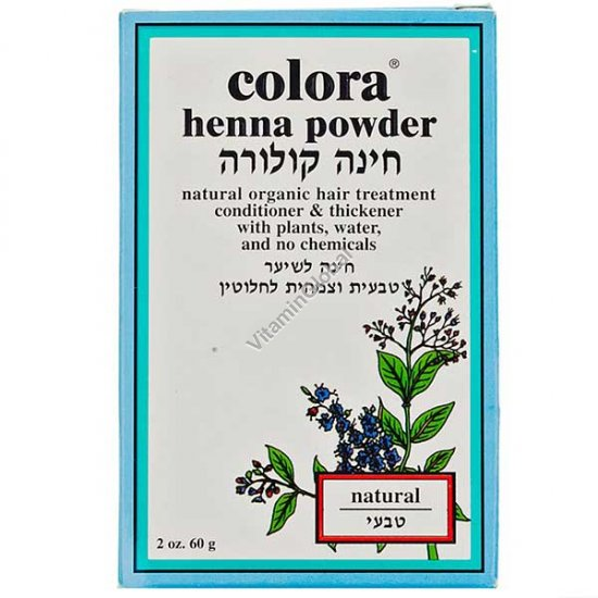 Henna Powder Natural 60g (2 oz.) - Colora