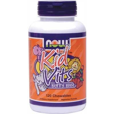 Kid Vits - Berry Blast Multi-Vitamin 120 Chewables - Now Foods