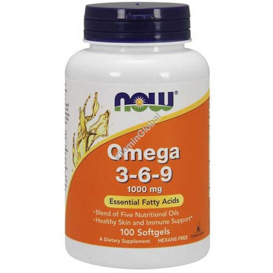 Omega 3-6-9 100 Softgels - NOW Foods
