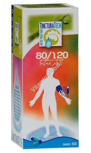 Kosher Badatz Hypertension 120/80 Formula 60 capsules - Tinctura Tech