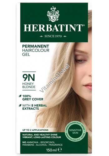 Permanent Herbal Haircolor Gel Honey Blonde 9N - Herbatint