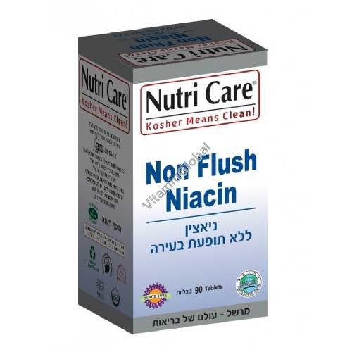 Kosher L\'Mehadrin Non Flush Niacin 200 mg 90 tablets - Nutri Care