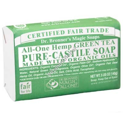 Hemp Green Tea Pure Castile Soap 140g (5 US OZ) - Dr. Bronner