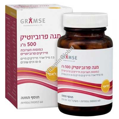 Mega Probiotics 60 capsules - Gramse