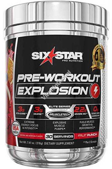 Pre-Workout SIX STAR, Fruit Punch 7.41 oz (210g) - Muscletech