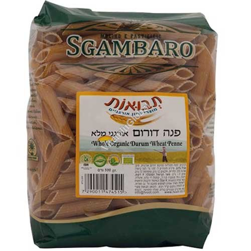 Organic Whole Wheat Penne 500g - Sgambaro