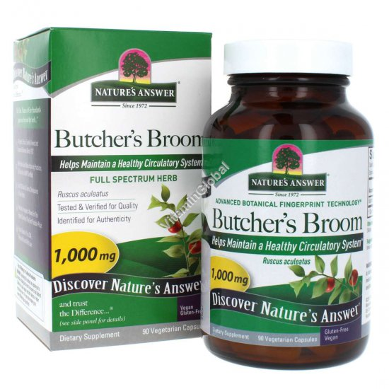Butcher\'s Broom 90 Vegetarian Capsules - Nature\'s Answer