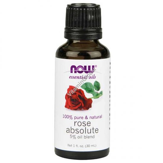 Rose Absolute 5% Oil Blend 30 ml - Now Essential Oils