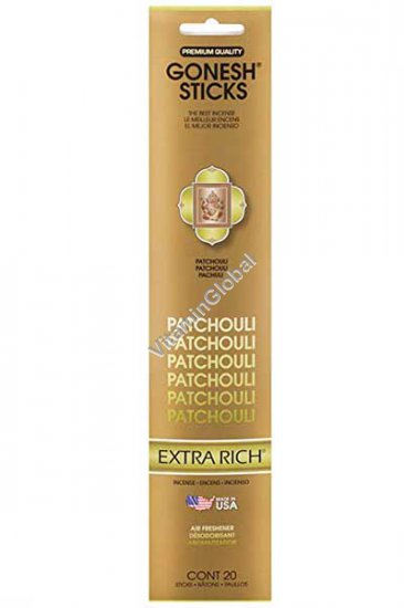 Patchouli Incense Sticks 20 count - Gonesh Sticks