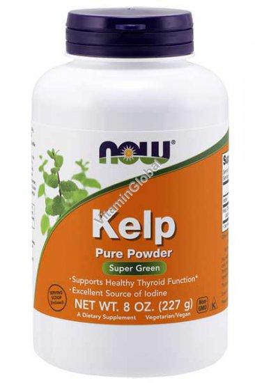 Organic Kelp 100% Pure Powder 227g - Now Foods
