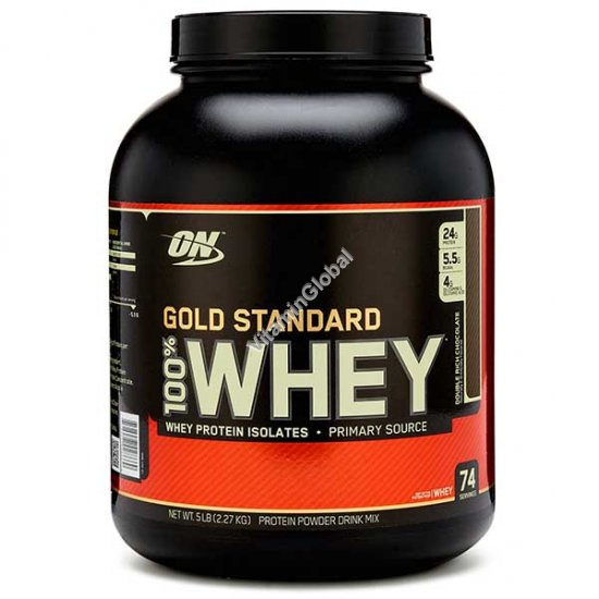 Gold Standard - 100% Whey Protein Double Rich Chocolate 2.270g - Optimum Nutrition
