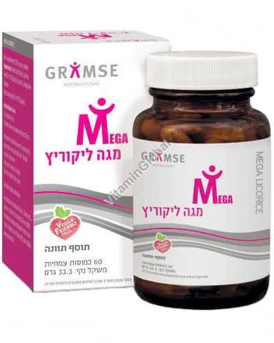 Mega Licorice - Licorice Root Extract 60 herbal capsules - Gramse
