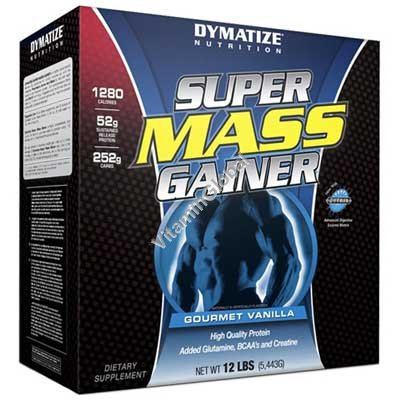 Super Mass Gainer Gourmet Vanilla 5.4kg - Dymatize Nutrition